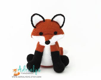 Crochet Fox- Stuffed Fox- Fox Plush- Red Fox-Woodland Animals- Forest Animals- Handmade Fox-Woodland Nursery- Amigurumi- Made to Order