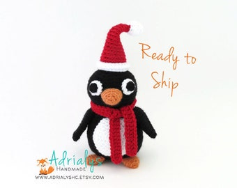 Crochet Penguin- Stuffed Penguin- Penguin Plush- Amigurumi Penguin- Handmade Penguin- Crochet Toy- Ready to Ship