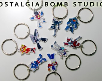 TF character keychains and phone charms in thick acrylic - G1, TFP, IDW universes
