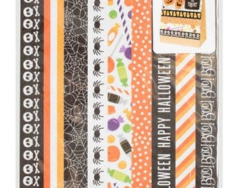 Halloween Washi Tape | BOO! Washi Tape Sticker Sheets | Halloween Washi Tape Strips | Halloween Scrapbooking