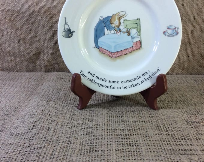 Beatrix Potter Designs Peter Rabbit plate from Wedgwood of Etruria & Barlaston vintage Peter Rabbit , vintage wedgwood china childs decor