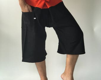 F30002 3/4 Thai fisherman/Yoga are pants Free-size: Will fit men or woman Two Tone