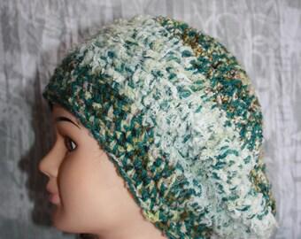 Heather Green Beret fancy very soft wool
