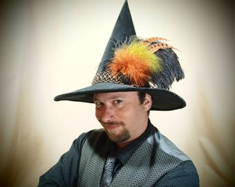"""Wizard Hat """"Mort"""" One of a Kind"""