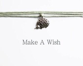 Hedgehog Bracelet - Make A Wish Bracelets - Cute Gift - Gifts for him & her - Stocking Stuffer - Boho Jewellery - Bohemian Jewelry
