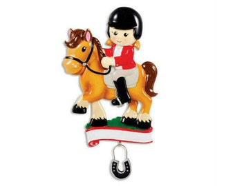 FREE SHIPPING  Equestrian Personalized Christmas Ornament / Horse Ornament / Dressage / I love horses / Hand Personalized