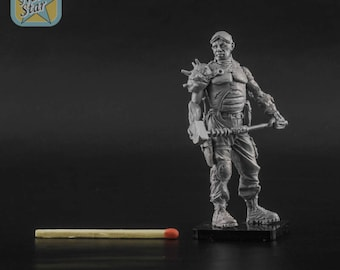 Fallout raider with siegehammer 54mm resin figure
