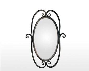 Miroir en fer forgé noir (mir-princess)(mir-cl-1)