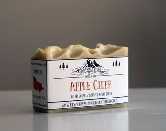 Apple Cider Soap - Handmade Soap, Cold Process Soap, Cocoa Butter, Palm Free Soap