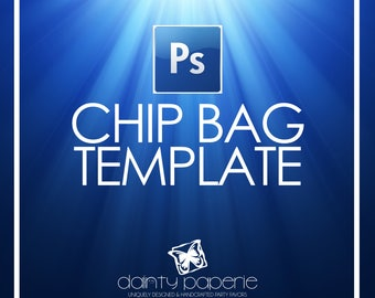 DIY Chip Bag Template | Adobe Photoshop CC File | psd file