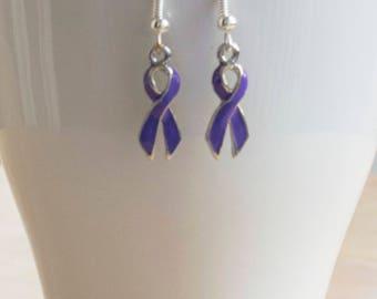 Hodgkin's Lymphoma Ribbon Awareness Earrings