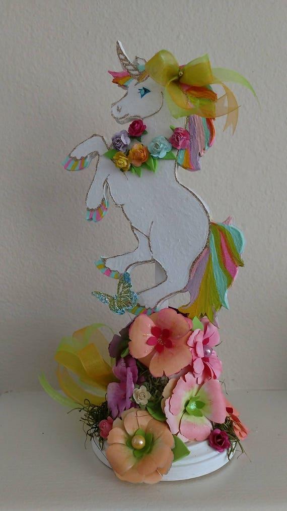 Unicorn centerpiece party decoration rainbow