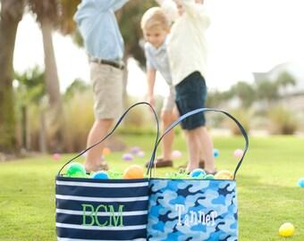 Boys Easter Basket, Monogrammed Easter Basket, Personalized Easter Basket, Embroidered Easter Basket, Easter Bucket, Camo Easter Basket