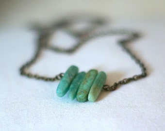 Fang Necklace on Delicate Bronze Chain