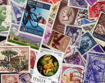 50 Diff ITALY Stamps, Stamp Collection,Italy stamps,Stamps, Italian Stamps, Italian Postage Stamps, Italy Postage Stamps, Postage Stamps