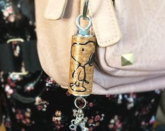 Keychain, cute keychain, character keychain, puppy keychain, custom keychain, cork keychain, vinyl keychain