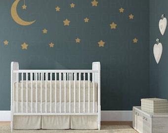 Moon & Stars Wall Decal Set