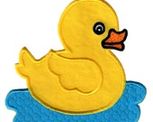 Rubber Ducky Duck Iron-On Patch Applique - Kids / Baby