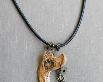 Wasteland Jawbone Totem Necklace