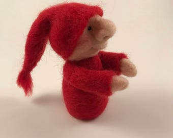 Felted Wool Gnome