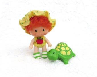 Vintage Strawberry Shortcake Doll APPLE DUMPLIN' With Teatime Turtle