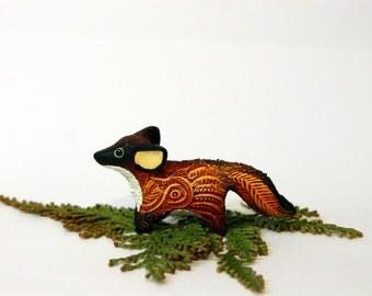 Red Fox Totem Figurine, Fantasy Fennec, Animal Miniature