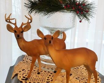 Vintage Plastic Hong Kong Reindeer Deer