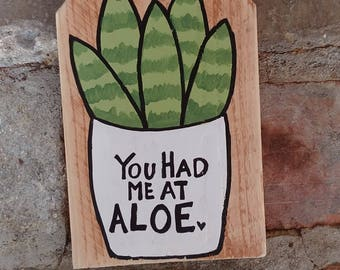 You Had Me At Aloe Pallet Sign, Succulent Wood Sign, Cactus Wall Art, You Had Me At Hello, Succulent Valentine's Day Gift