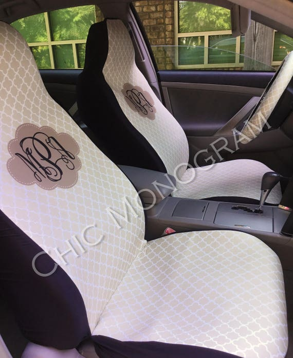 Monogrammed Car Seat Covers Front Seat Covers Back Seat Custom Steering Wheel Cover Monogram Personalized Seat Covers For Car For Vehicle