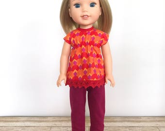 "14.5 Inch Doll Dress, 14.5"" Doll Outfit, WW Outfit, WW Top and Pants"