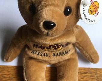 Vintage Hard Rock Cafe Collectible Nassu Bahamas Bear