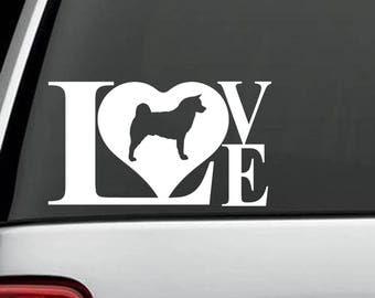 L1021 Akita Love Dog Decal Sticker