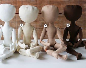 Doll body  33 cm (13 in) Blank doll body Doll making Cloth doll body Handmade doll supply Textile doll Craft doll body Ragdoll body Fabric
