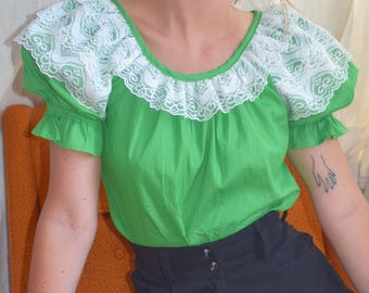 Grass and Lace Prairie Blouse