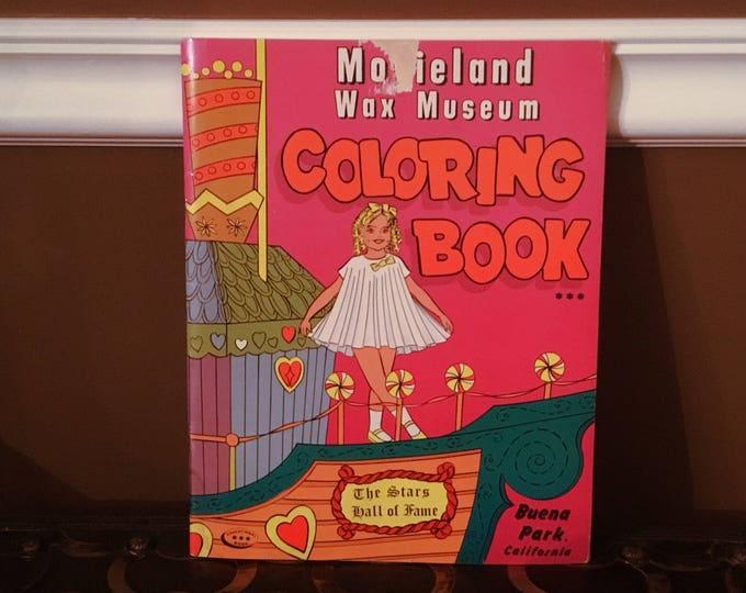 MOVIELAND WAX MUSEUM Coloring Book 1966 Vintage