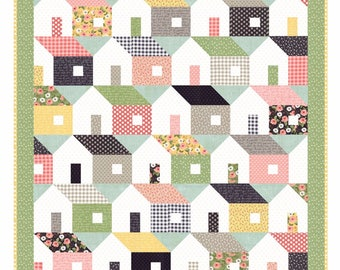 Moda Home Again Quilt Kit Farmers Daughter Fabric by Lella Boutique 64 x 68