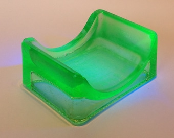 1930s Lillicrap's Hone. Uranium Glass. DE Razor Blade Sharpener. Shaving Collectables.