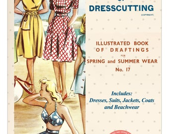 The Haslam System of Dresscutting No. 17 1940's - PDF Booklet Instant Download