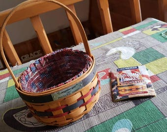 Vintage Longaberger 1997 Inaugural Basket 1996 Made in Dresden Ohio Signed and Dated  C823J