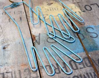 Glove Dryer Stretchers / Vintage Turquoise Blue Green Seafoam Metal 1950s