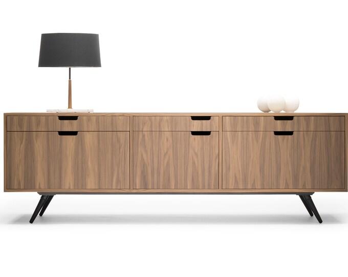 Filing Cabinet / File credenza / Sideboard / cupboard / in solid or veneer board oak / walnut.