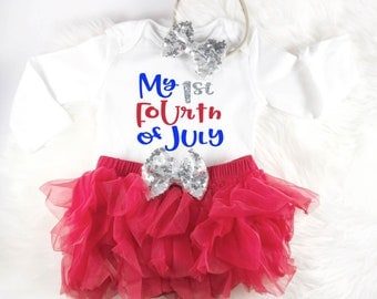 First 4th of july baby outfit, First fourth of july outfit, baby girl outfit, fourth of july outfit, my first fourth, My 1st Fourth of July