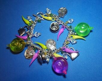 tea party charm bracelet