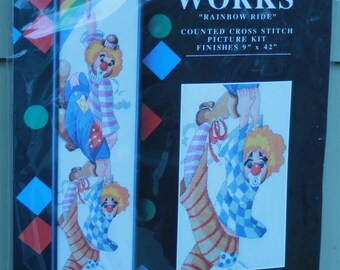 Rainbow Ride Design Works counted cross stitch kit 1057 Clown New sealed