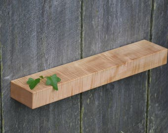 Curly Maple Floating Shelf 22 x 4
