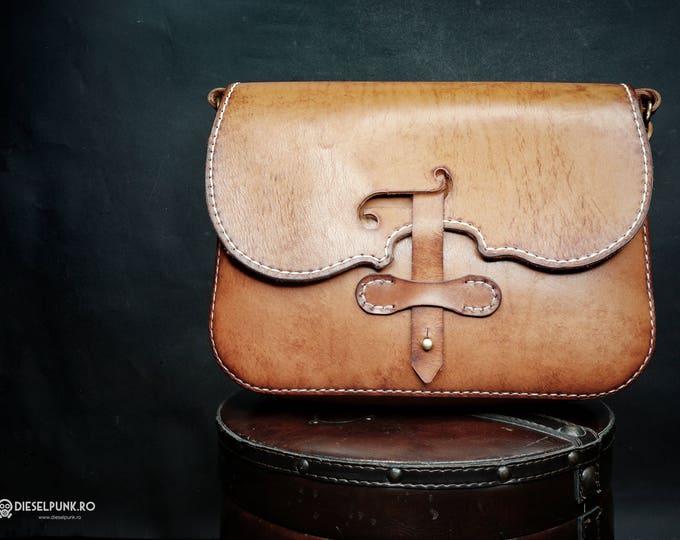 Violin Bag - Leather Bag - Hand made Bag - Messenger Bag