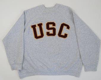 USC Trojans Football Unisex 100% Cotton Long Sleeve Pocket T-shirt MyvEjNVp