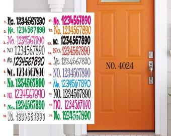 House Door Address, Mailbox Decal, Address Sticker, Mailbox Address Decal, Address, Vinyl Numbers, Address Sign, Front Door Decorations