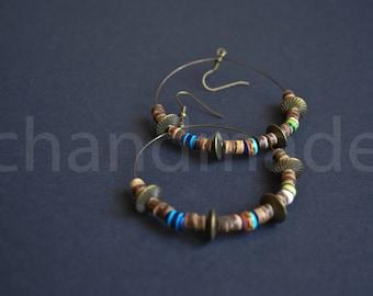 Boho earrings | Hoop earrings | Statement earrings | Tribal earrings | Boucles D'oreilles | Pendientes | Big earrings | Gipsy style earrings
