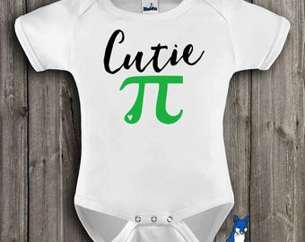 Cutie Pi,Geekery Baby,Funny baby clothes,Nerdy baby outfit,baby one piece,baby bodysuit,Cute baby outfit,baby boy,baby girl clothes,ONE341